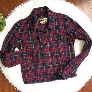 Levi Jean Square Style Red Blue Jacket